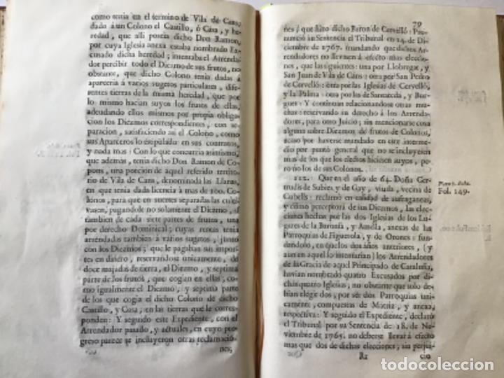Libros antiguos: MEMORIAL PLEYTO NOBLES LAICOS DE CATALUÑA. IMPUESTOS. - Foto 4 - 189546728