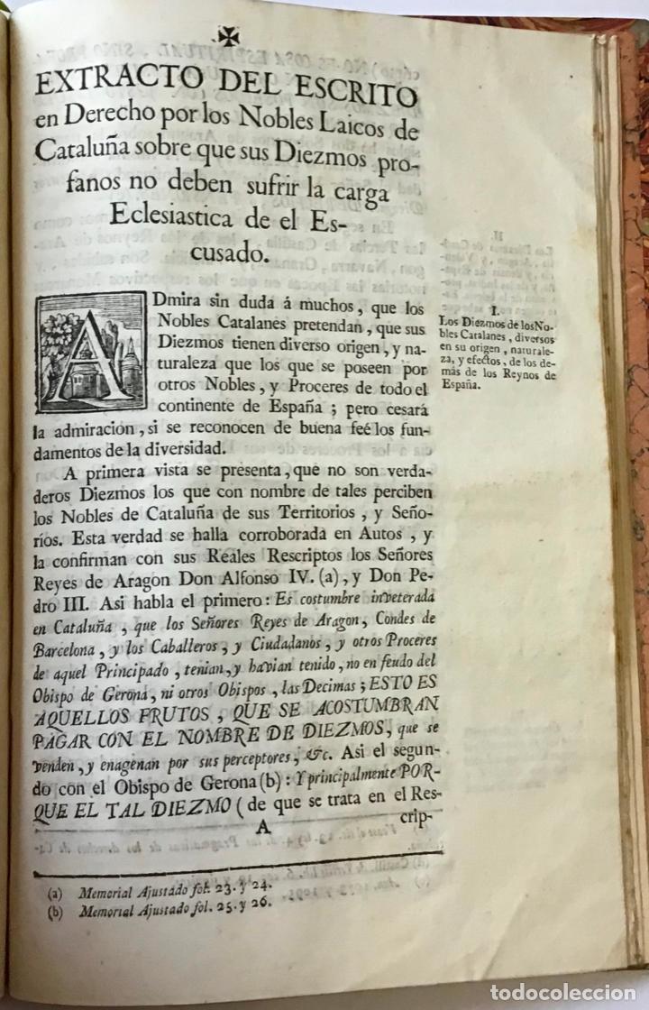 Libros antiguos: MEMORIAL PLEYTO NOBLES LAICOS DE CATALUÑA. IMPUESTOS. - Foto 5 - 189546728