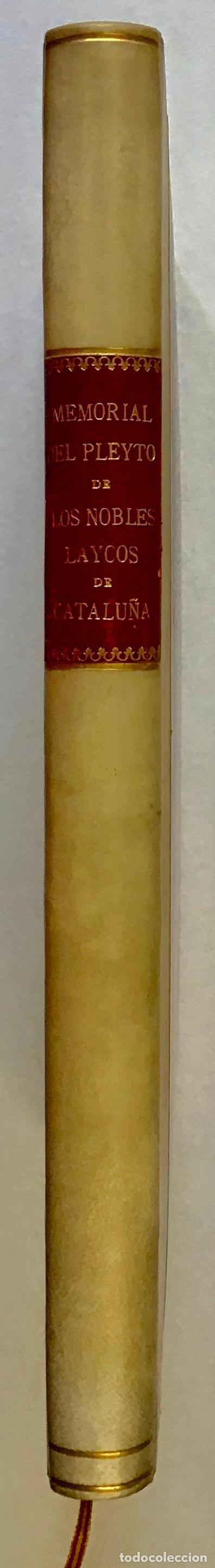 Libros antiguos: MEMORIAL PLEYTO NOBLES LAICOS DE CATALUÑA. IMPUESTOS. - Foto 6 - 189546728