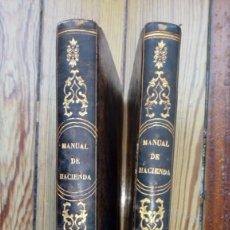 Livros antigos: MANUEL DE HACIENDA DE JOSE MARIA CANALS 2 TOMOS 1845 MADRID ECONOMÍA DERECHO MUY RAROS. Lote 190019050