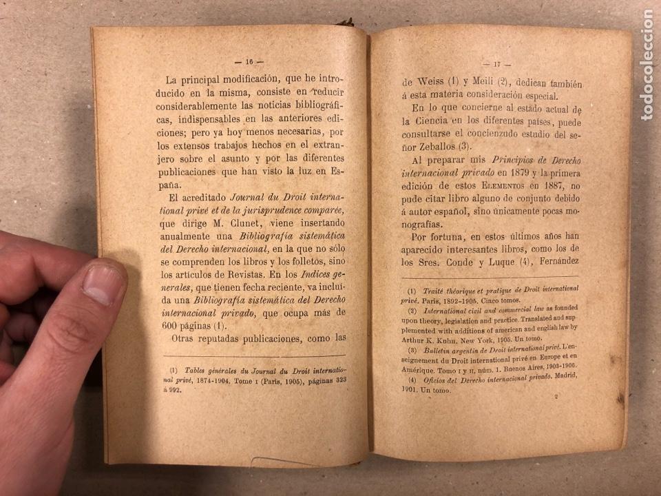 Libros antiguos: ELEMENTOS DE DERECHO INTERNACIONAL PRIVADO. MANUEL TORRES CAMPOS. LIBRERÍA DE FERNANDO FÉ 1906. - Foto 4 - 190176110