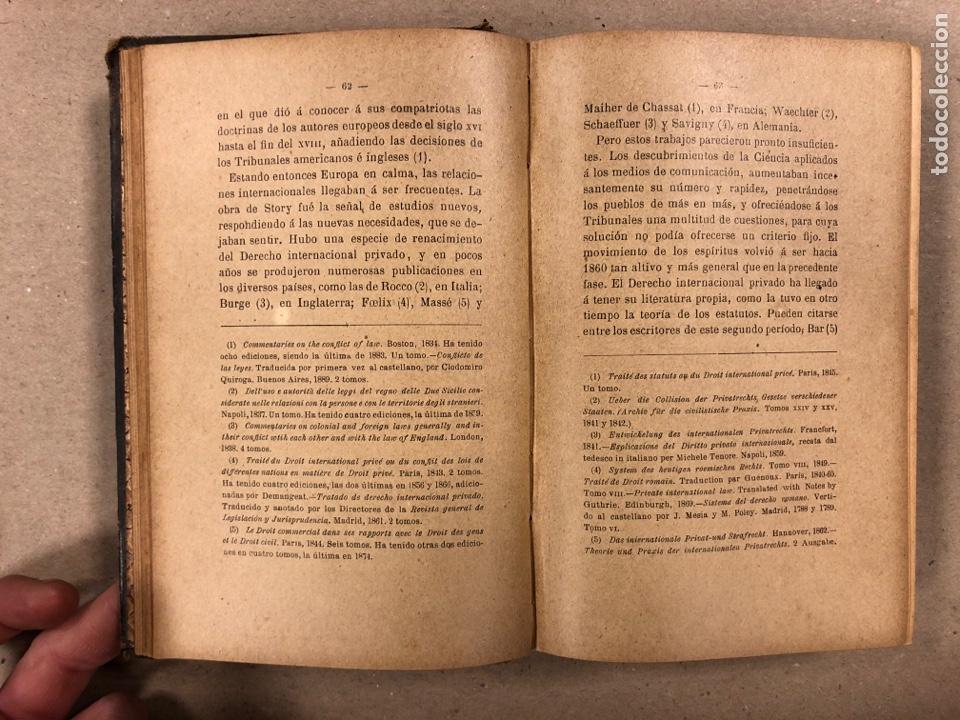 Libros antiguos: ELEMENTOS DE DERECHO INTERNACIONAL PRIVADO. MANUEL TORRES CAMPOS. LIBRERÍA DE FERNANDO FÉ 1906. - Foto 5 - 190176110