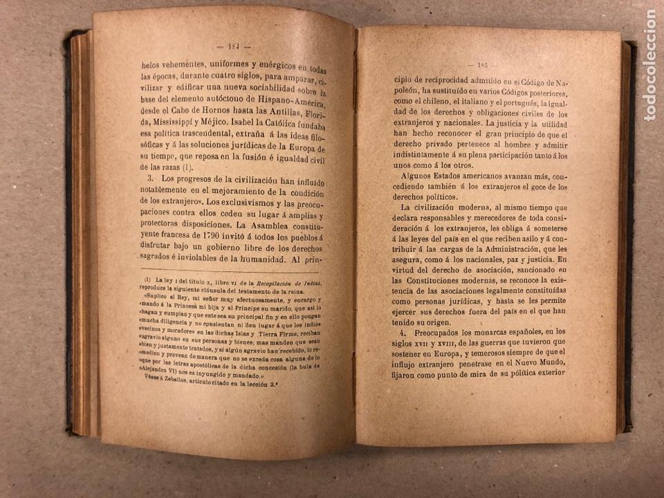 Libros antiguos: ELEMENTOS DE DERECHO INTERNACIONAL PRIVADO. MANUEL TORRES CAMPOS. LIBRERÍA DE FERNANDO FÉ 1906. - Foto 7 - 190176110