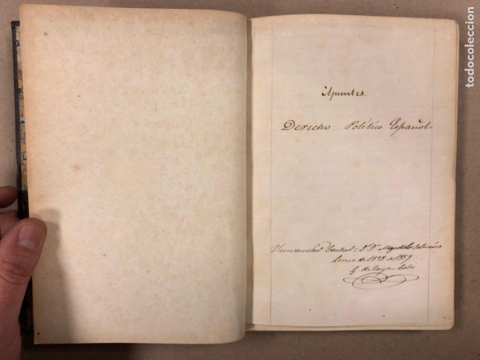 Libros antiguos: APUNTES DE DERECHO POLÍTICO Y ADMINISTRATIVO UNIVERSIDAD CENTRAL CURSO 1858-1859. 2 TOMOS. - Foto 5 - 190178585