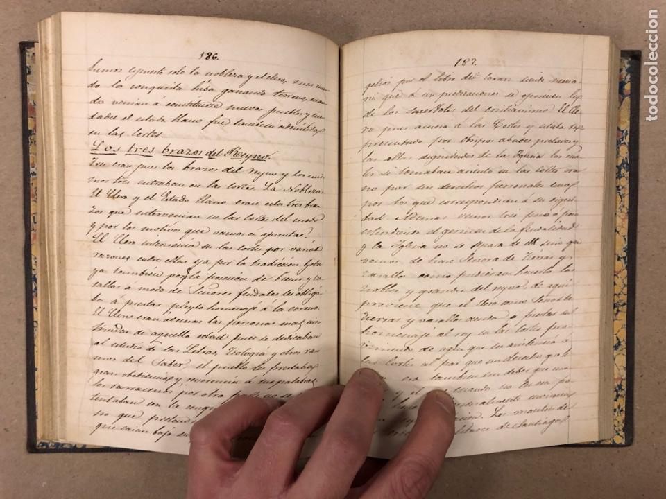 Libros antiguos: APUNTES DE DERECHO POLÍTICO Y ADMINISTRATIVO UNIVERSIDAD CENTRAL CURSO 1858-1859. 2 TOMOS. - Foto 8 - 190178585