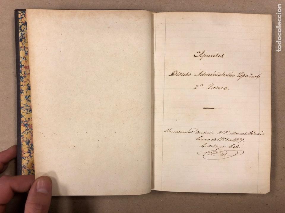 Libros antiguos: APUNTES DE DERECHO POLÍTICO Y ADMINISTRATIVO UNIVERSIDAD CENTRAL CURSO 1858-1859. 2 TOMOS. - Foto 12 - 190178585