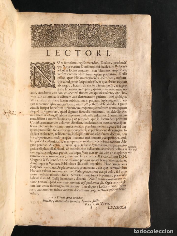 Libros antiguos: 1671 Derecho - Cuenca - Pergamino - Consilia sive responsa ivris - Valenzuela Velázquez - Foto 5 - 190805128