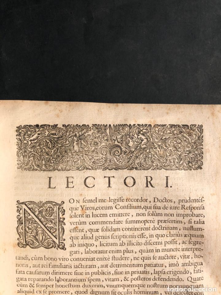 Libros antiguos: 1671 Derecho - Cuenca - Pergamino - Consilia sive responsa ivris - Valenzuela Velázquez - Foto 6 - 190805128