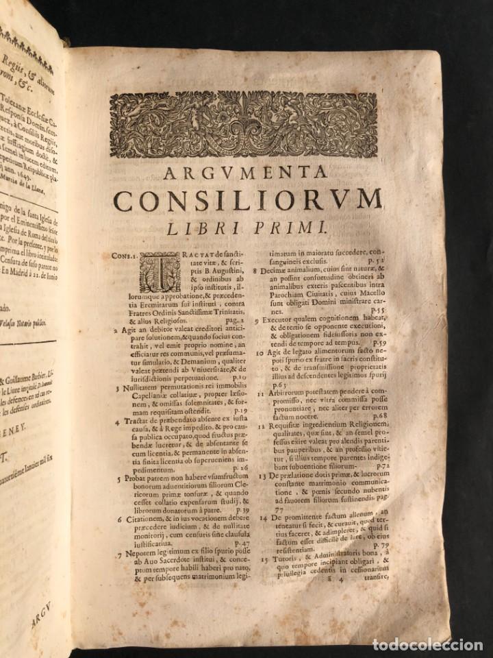 Libros antiguos: 1671 Derecho - Cuenca - Pergamino - Consilia sive responsa ivris - Valenzuela Velázquez - Foto 8 - 190805128