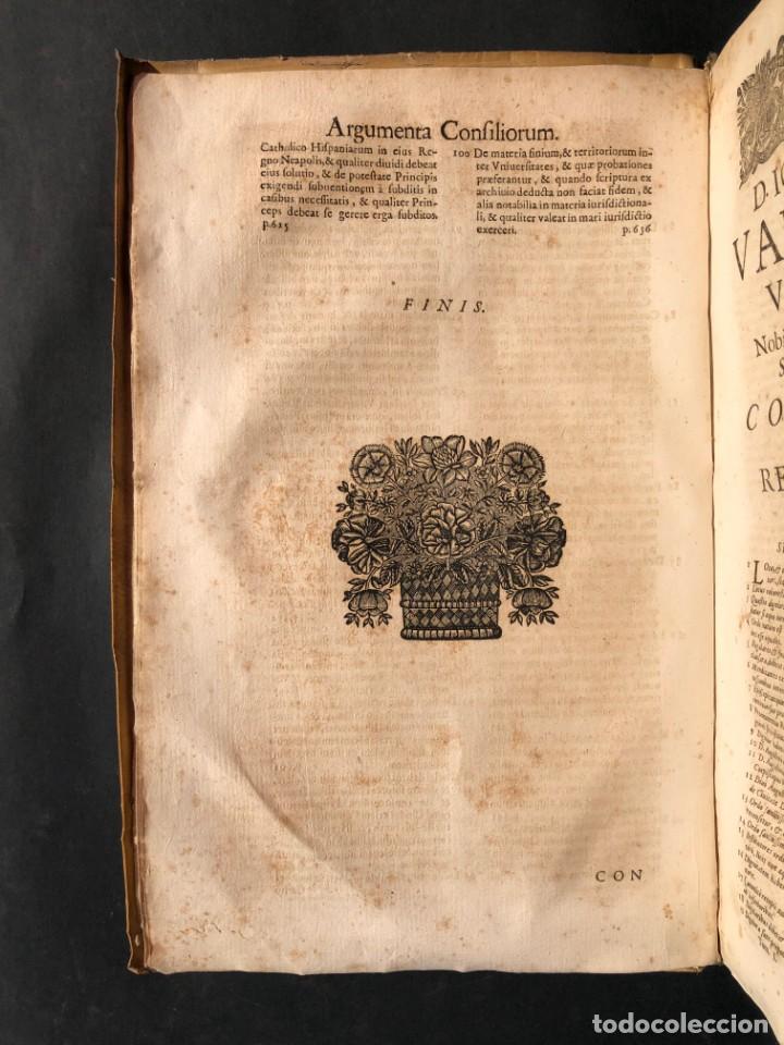 Libros antiguos: 1671 Derecho - Cuenca - Pergamino - Consilia sive responsa ivris - Valenzuela Velázquez - Foto 9 - 190805128