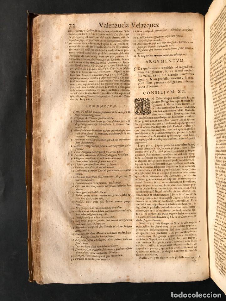 Libros antiguos: 1671 Derecho - Cuenca - Pergamino - Consilia sive responsa ivris - Valenzuela Velázquez - Foto 12 - 190805128