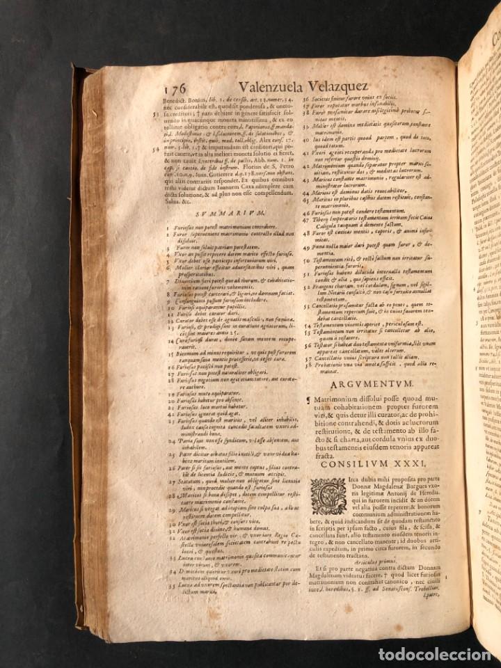 Libros antiguos: 1671 Derecho - Cuenca - Pergamino - Consilia sive responsa ivris - Valenzuela Velázquez - Foto 13 - 190805128