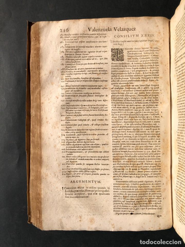 Libros antiguos: 1671 Derecho - Cuenca - Pergamino - Consilia sive responsa ivris - Valenzuela Velázquez - Foto 14 - 190805128