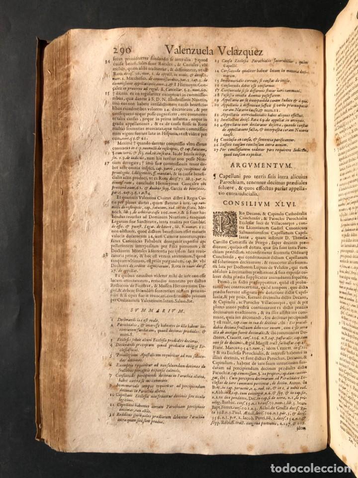 Libros antiguos: 1671 Derecho - Cuenca - Pergamino - Consilia sive responsa ivris - Valenzuela Velázquez - Foto 15 - 190805128