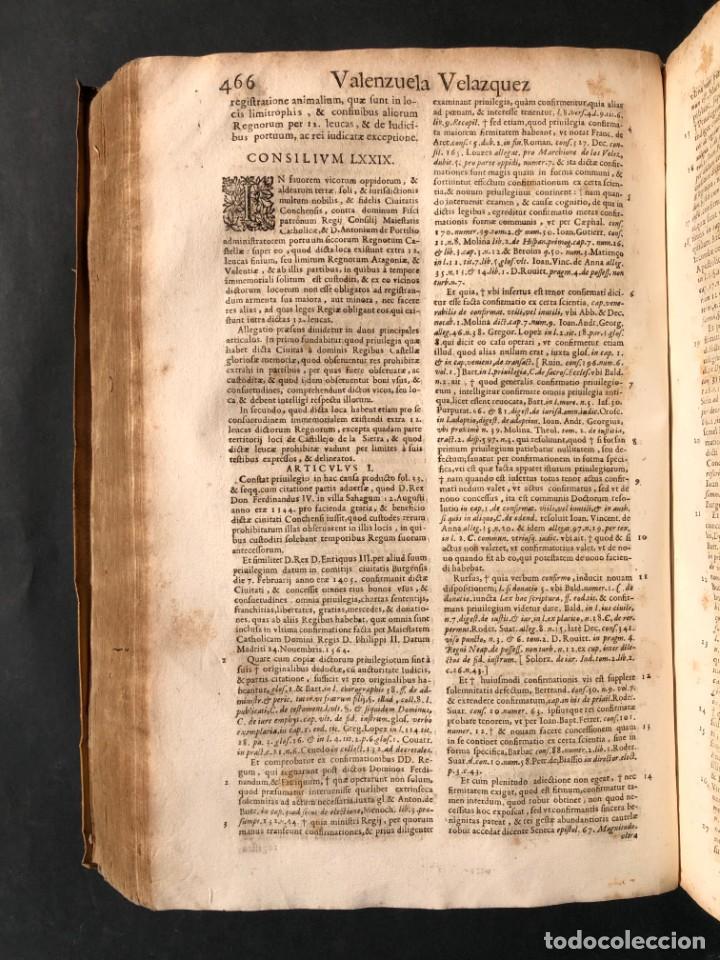 Libros antiguos: 1671 Derecho - Cuenca - Pergamino - Consilia sive responsa ivris - Valenzuela Velázquez - Foto 16 - 190805128