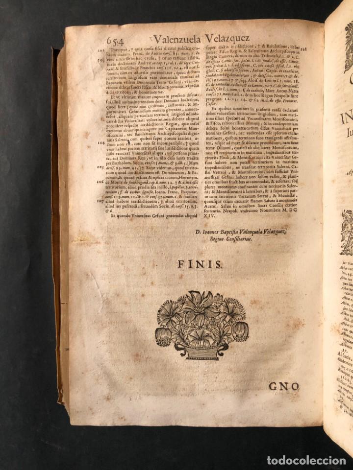 Libros antiguos: 1671 Derecho - Cuenca - Pergamino - Consilia sive responsa ivris - Valenzuela Velázquez - Foto 17 - 190805128