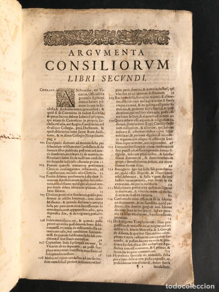 Libros antiguos: 1671 Derecho - Cuenca - Pergamino - Consilia sive responsa ivris - Valenzuela Velázquez - Foto 21 - 190805128