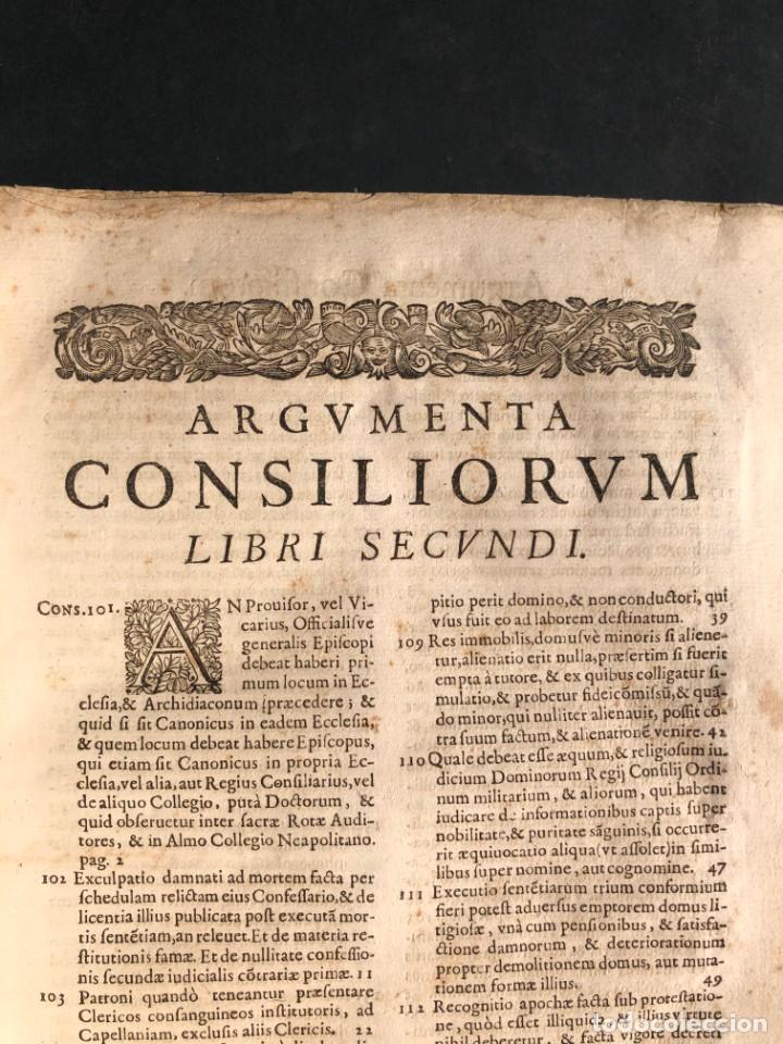 Libros antiguos: 1671 Derecho - Cuenca - Pergamino - Consilia sive responsa ivris - Valenzuela Velázquez - Foto 22 - 190805128