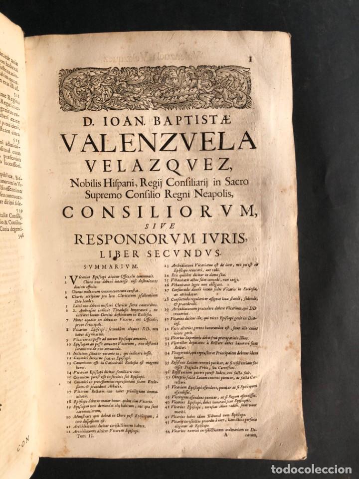 Libros antiguos: 1671 Derecho - Cuenca - Pergamino - Consilia sive responsa ivris - Valenzuela Velázquez - Foto 23 - 190805128