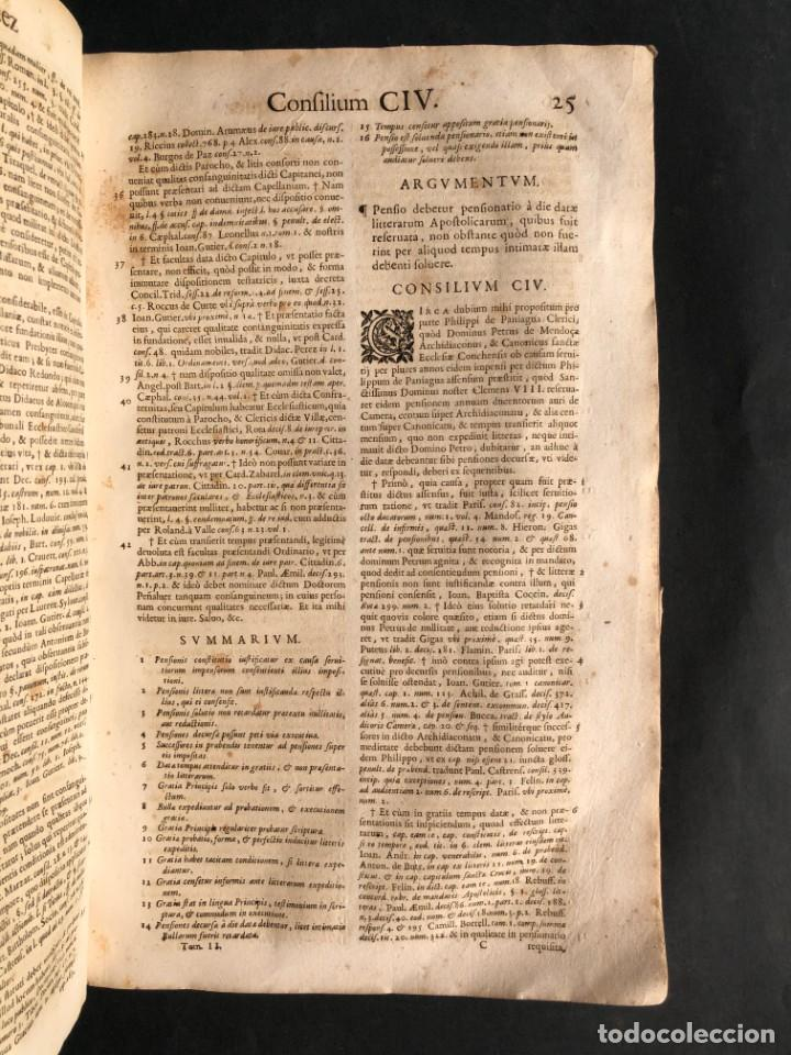 Libros antiguos: 1671 Derecho - Cuenca - Pergamino - Consilia sive responsa ivris - Valenzuela Velázquez - Foto 26 - 190805128