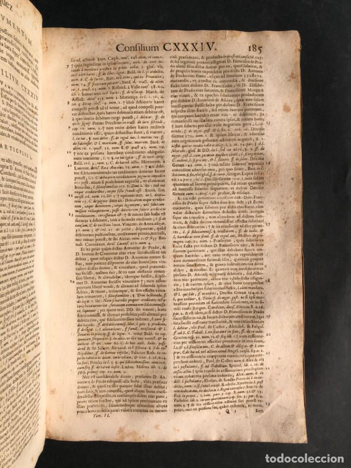 Libros antiguos: 1671 Derecho - Cuenca - Pergamino - Consilia sive responsa ivris - Valenzuela Velázquez - Foto 27 - 190805128