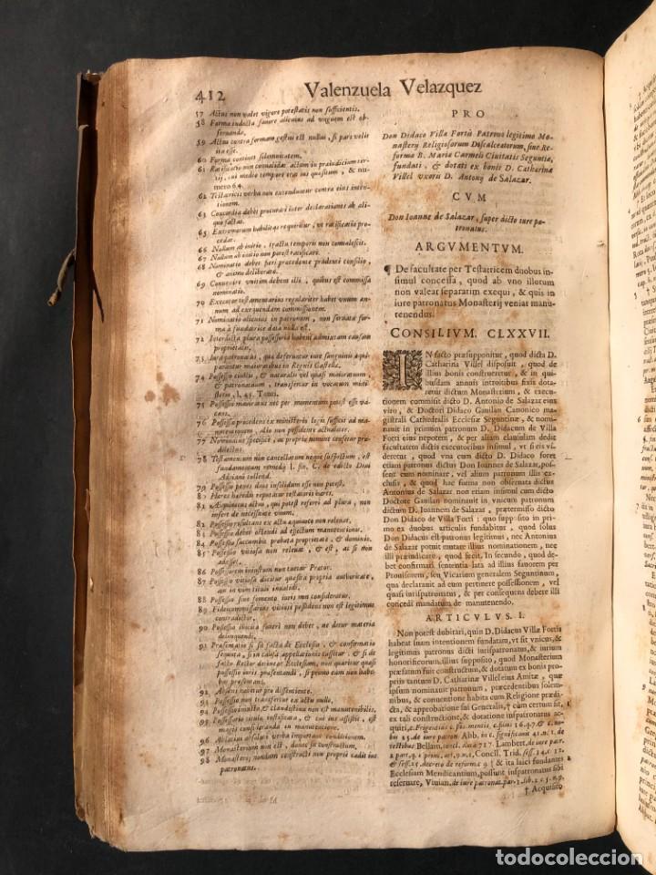Libros antiguos: 1671 Derecho - Cuenca - Pergamino - Consilia sive responsa ivris - Valenzuela Velázquez - Foto 28 - 190805128