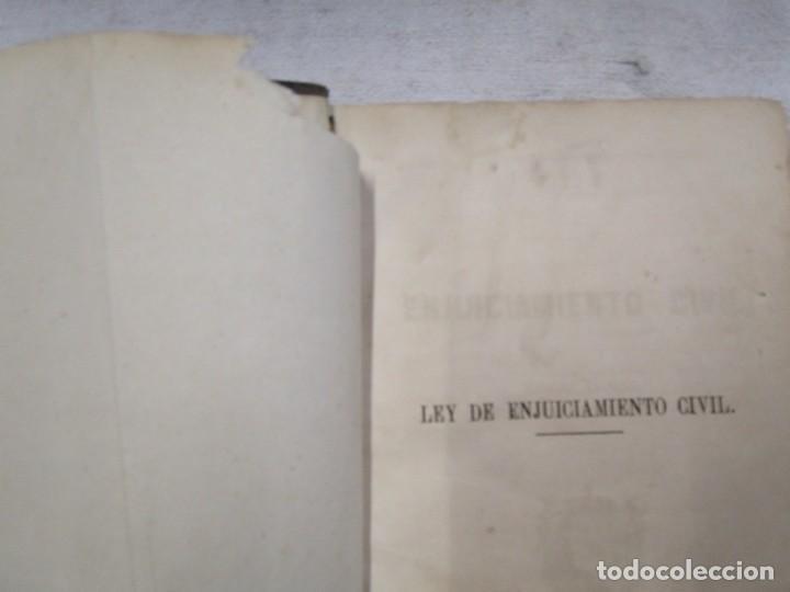 Libros antiguos: DERECHO CIVIL - LEY DE ENJUICIAMIENTO CIVIL - EDICION OFICIAL 1855 282pag 21cm + INFO - Foto 3 - 190873766