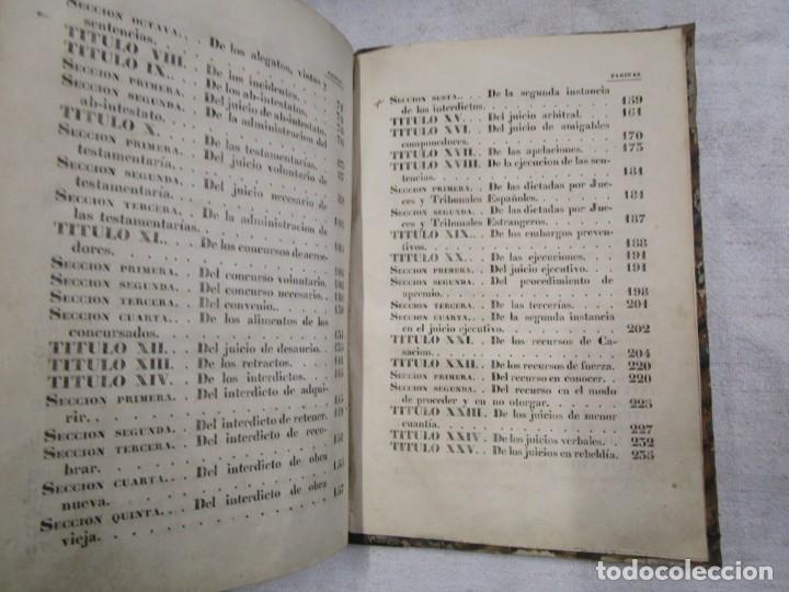 Libros antiguos: DERECHO CIVIL - LEY DE ENJUICIAMIENTO CIVIL - EDICION OFICIAL 1855 282pag 21cm + INFO - Foto 6 - 190873766