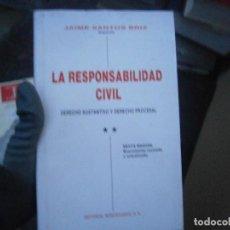 Libros antiguos: LA RESPONSABILIDAD CIVIL. Lote 190875791