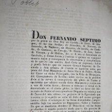 Libros antiguos: CARTA ESCRITA POR LLOBET Y VAIXERAS. NOTARIO DIRIGIDA A FERNANDO VII. 1832. Lote 191054068