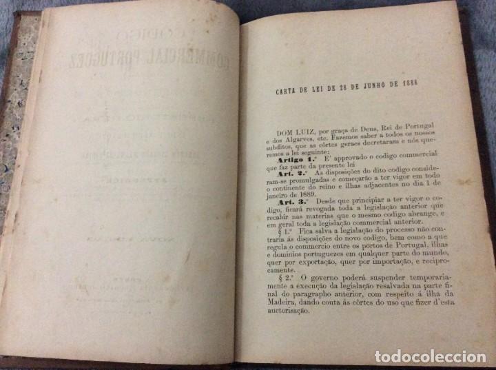 Libros antiguos: Codigo Commercial Portuguez + Repertorio Geral ou Indice Alphabetico do codigo Commercial portuguez - Foto 3 - 191354466