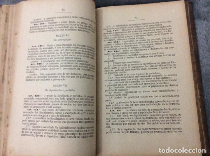 Libros antiguos: Codigo Commercial Portuguez + Repertorio Geral ou Indice Alphabetico do codigo Commercial portuguez - Foto 4 - 191354466