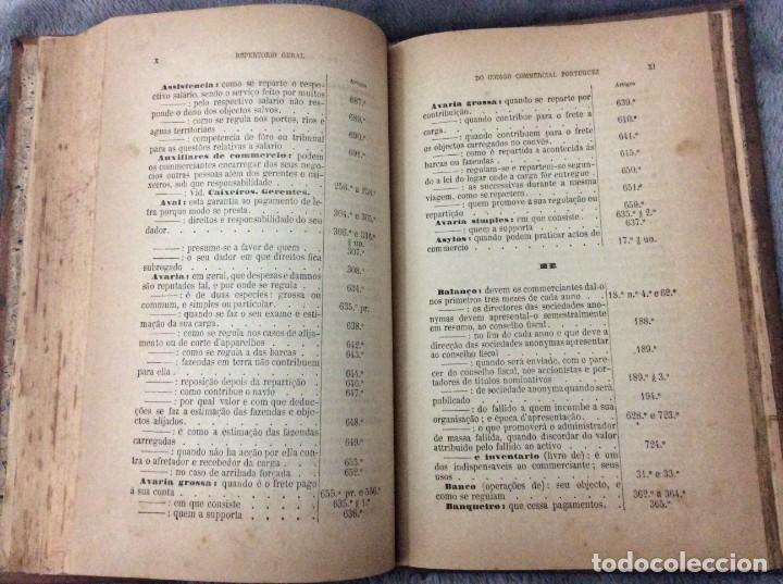 Libros antiguos: Codigo Commercial Portuguez + Repertorio Geral ou Indice Alphabetico do codigo Commercial portuguez - Foto 6 - 191354466