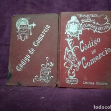 Libros antiguos: LOTE DE DOS ANTIGUOS LIBROS, CÓDIGO DE COMERCIO, PPIOS DE XX. Lote 191470333