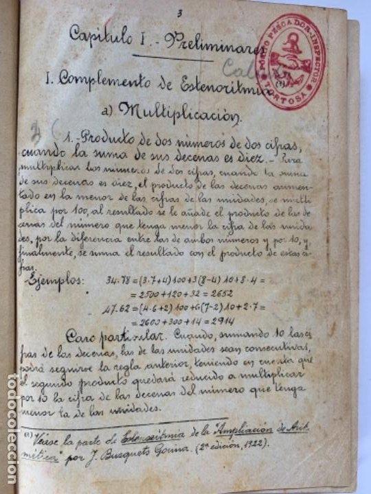CÁLCULO COMERCIAL (LIBRO MANUSCRITO 1925) (Libros Antiguos, Raros y Curiosos - Ciencias, Manuales y Oficios - Derecho, Economía y Comercio)