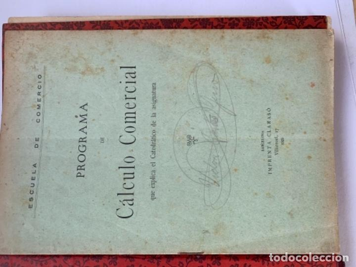 Libros antiguos: Cálculo Comercial (libro manuscrito 1925) - Foto 2 - 191779381