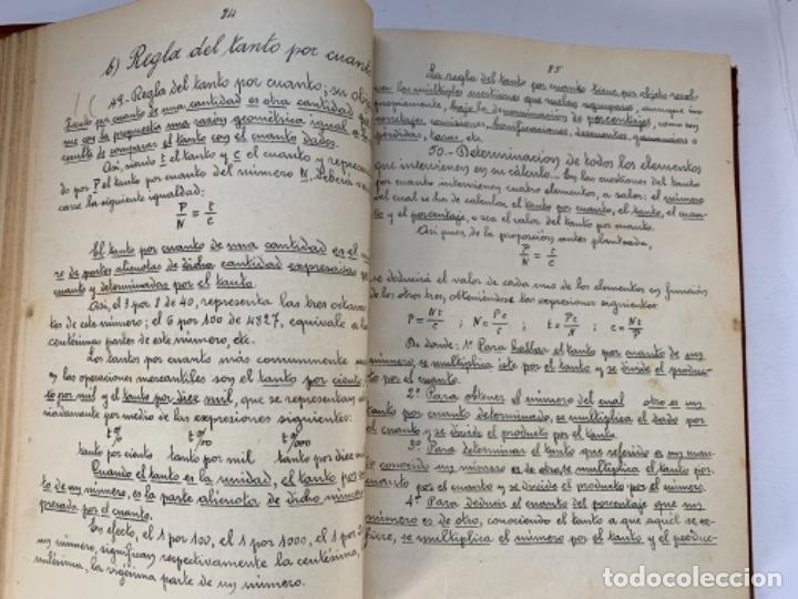 Libros antiguos: Cálculo Comercial (libro manuscrito 1925) - Foto 3 - 191779381