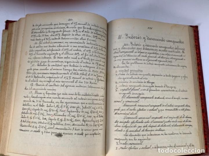 Libros antiguos: Cálculo Comercial (libro manuscrito 1925) - Foto 5 - 191779381