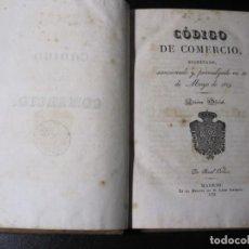 Libros antiguos: CODIGO DE COMERCIO DECRETADO, SANCIONADO Y PROMULGADO 30 DE MAYO 1829. Lote 191781756