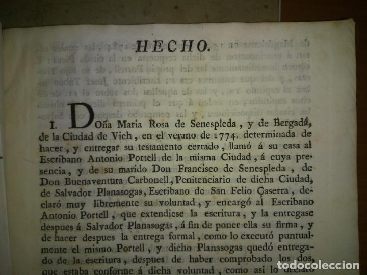 Libros antiguos: EXCEPCIONAL COLECCION DE LITIGIOS JUDICIALES DE LOS SIGLOS XVIII-XIX. - Foto 5 - 192139293