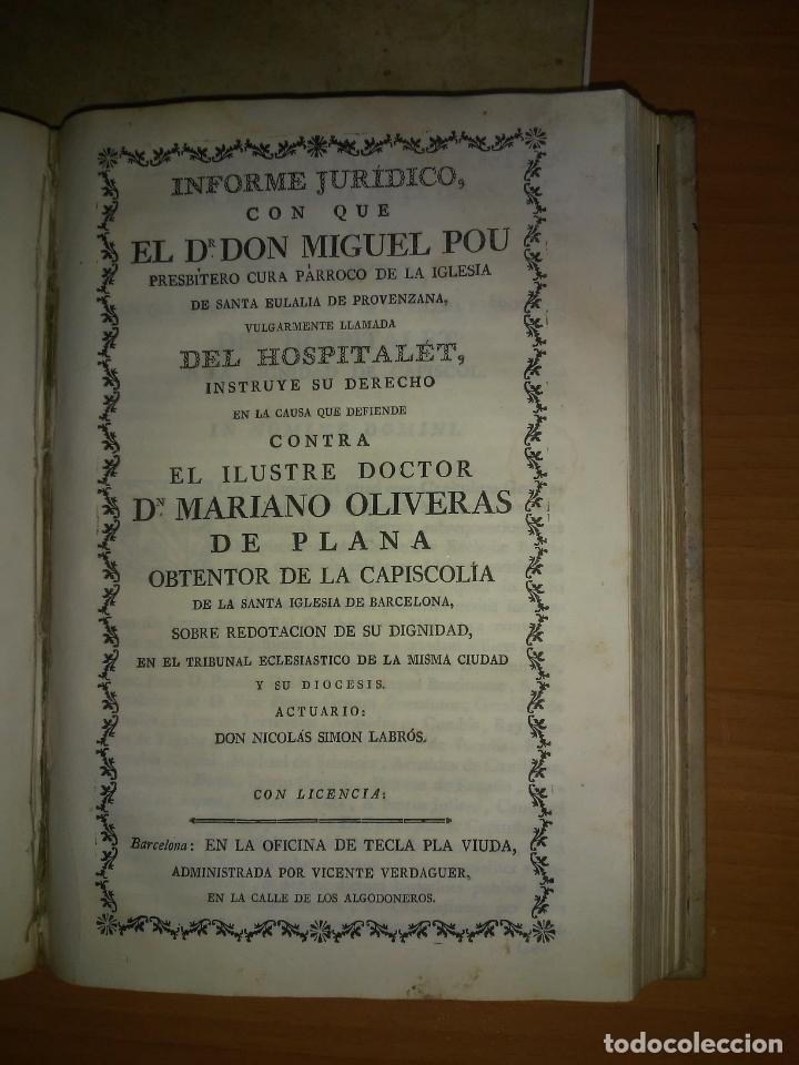 Libros antiguos: EXCEPCIONAL COLECCION DE LITIGIOS JUDICIALES DE LOS SIGLOS XVIII-XIX. - Foto 7 - 192139293