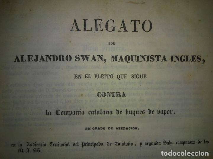 Libros antiguos: EXCEPCIONAL COLECCION DE LITIGIOS JUDICIALES DE LOS SIGLOS XVIII-XIX. - Foto 10 - 192139293