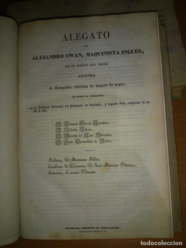 Libros antiguos: EXCEPCIONAL COLECCION DE LITIGIOS JUDICIALES DE LOS SIGLOS XVIII-XIX. - Foto 11 - 192139293