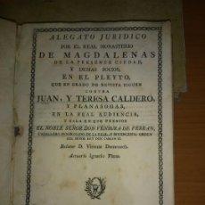 Libros antiguos: EXCEPCIONAL COLECCION DE LITIGIOS JUDICIALES DE LOS SIGLOS XVIII-XIX.. Lote 192139293