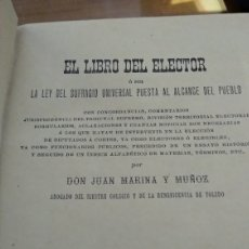 Libros antiguos: EL LIBRO DEL ELECTOR Y APENDICE. Lote 193451876