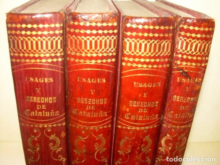 Libros antiguos: IMPORTANTE OBRA EN 4 TOMOS..USAGES DE CATALUÑA Y DEMAS DERECHOS....AÑO 1832 - Foto 2 - 194121355