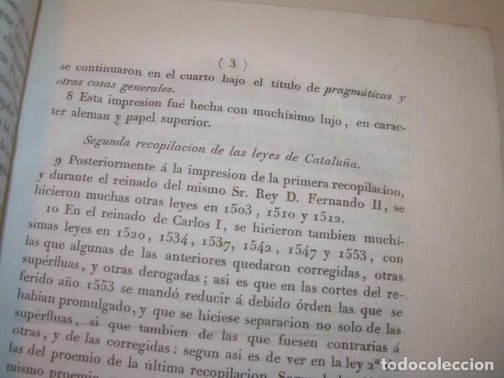Libros antiguos: IMPORTANTE OBRA EN 4 TOMOS..USAGES DE CATALUÑA Y DEMAS DERECHOS....AÑO 1832 - Foto 5 - 194121355