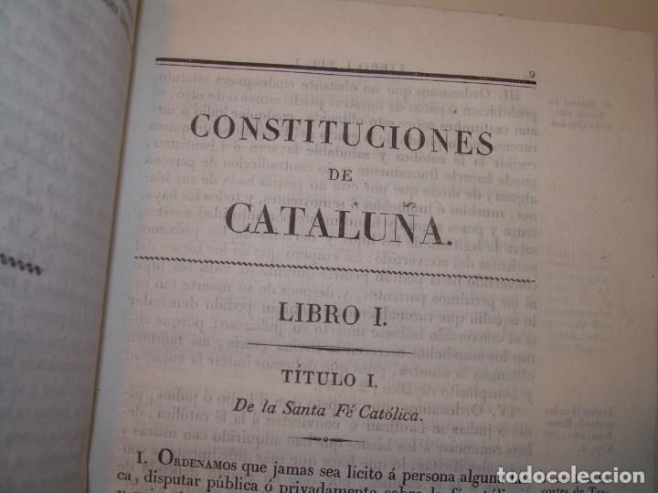 Libros antiguos: IMPORTANTE OBRA EN 4 TOMOS..USAGES DE CATALUÑA Y DEMAS DERECHOS....AÑO 1832 - Foto 6 - 194121355
