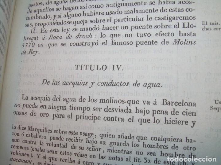 Libros antiguos: IMPORTANTE OBRA EN 4 TOMOS..USAGES DE CATALUÑA Y DEMAS DERECHOS....AÑO 1832 - Foto 9 - 194121355