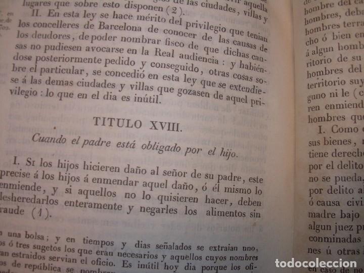 Libros antiguos: IMPORTANTE OBRA EN 4 TOMOS..USAGES DE CATALUÑA Y DEMAS DERECHOS....AÑO 1832 - Foto 11 - 194121355